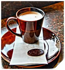 Hot Chocolate from Chocolat in Victoria, Print