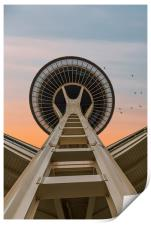 Space Needle at Dawn, Print