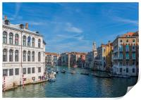 Bend in the Grand Canal, Print