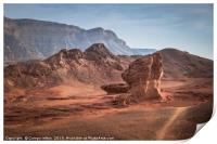the valley view point in timna national park in so, Print