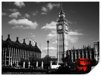 Routemaster Bus and Big Ben, Print