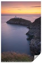 South Stack at sunset., Print