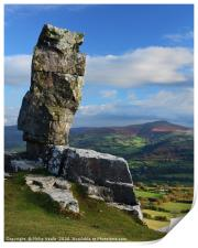 The Lonely Shepherd and Sugar Loaf Mountain., Print