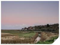 Cley Marshes at Dusk, Print