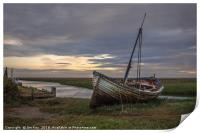 The Wreck at Thornham Staithe, Print