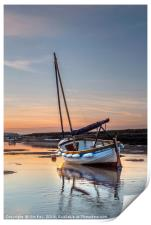 Sunset and a Sailing Boat, Print