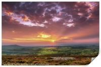 Sunset in the Valleys, Print