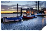 Dawn -  Wells next the Sea Harbour , Print