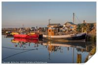 All Quiet in the Harbour at Brancaster Staithe, Print