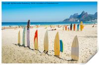 Surfboards in Ipanema, Print