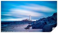St Mary's Lighthouse at Whitley Bay, Print