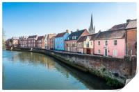 River Wensum at the Quayside, Print
