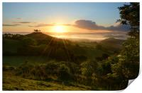Summer Sunrise at Colmer's Hill, Print