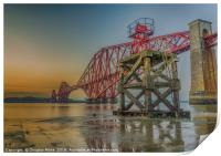 Hawes Pier and the Forth Bridge, Print