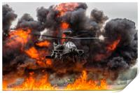Boeing AH-64 Apache Longbow Attack Helicopter, Print