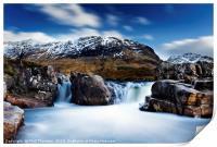 Waterfall on the River Etive., Print