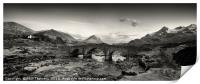 The Black and Red Cuillin mountains from Sligachan, Print