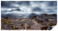 View from the top of Spidean Coire nan Clach, Print