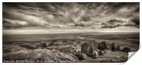 View from the top of the Needle Rock, Isle of Skye, Print