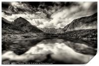 The Cuillin ridge from Loch Coruisk, Print