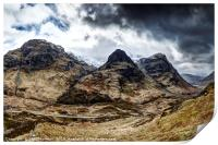 The Three Sisters of Glencoe no.2, Print