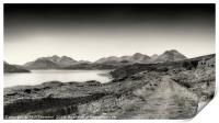 The Sound of Raasay and The Cuillin range No.2, Print