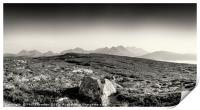 View from Dun Cann to the Isle of Skye., Print