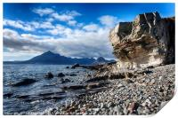 View from Elgol to the Black Cuiliins, Print