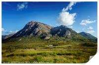 Blue skies over over Stob Dearg, Print