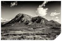 Dramatic skies over over Stob Dearg, Print