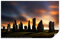 Sunset over the  Callanish Standing Stones, Print