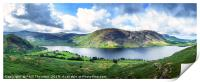 Panoramic view of Crummock Water, Lake District., Print