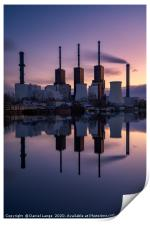 Fossil fuel power station in Berlin, Germany, Print