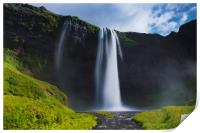 Seljalandsfoss are one of the impressive waterfall, Print
