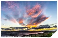 Seaham Clouds at Sunrise, Print