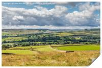 Over Teesdale to Lunedale from Blunt House, Print
