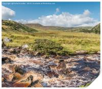 Cronkley Fell from Blea Beck Teesdale, Panorama , Print