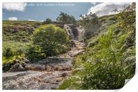 Blea Beck and Waterfall in Spate (2), Print