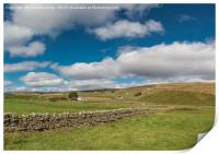 Harwood, Upper Teesdale, from Marshes Gill, VPano, Print