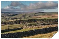 Ettersgill and Upper Teesdale from Stable Edge, Print