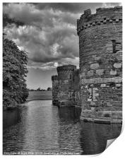 Stormy skies over Beaumaris Castle, Print