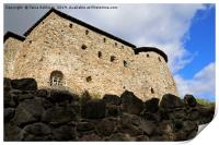 Medieval Raseborg Castle Ruins on a Rock, Print