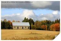 October Afternoon in the Country, Print