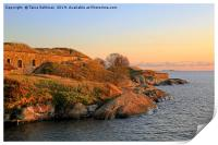 Sea Fortress at Golden Hour, Print