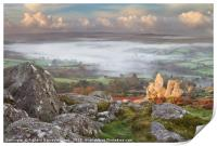 Widecombe-in-the-Moor in the Mist, Print