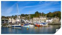 Padstow Harbour, Cornwall, Print