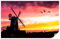 A windmill at Cley Next the Sea, Print