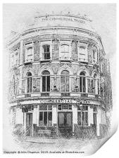 Commercial Tavern, Grade II Listed, built 1865, Print