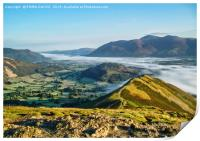 EARLY MORNING ON CAT BELLS , Print
