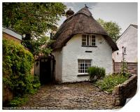 White Thatched Cottage, Print